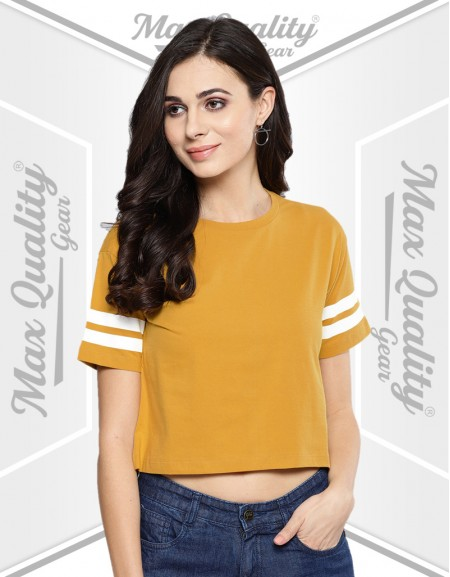 SORT SLEEVE ROUND NECK CASUAL TOPS