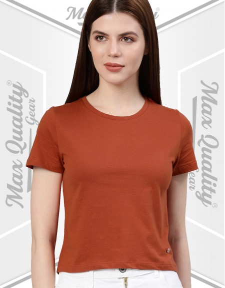 MAX CASUAL LADIES ROUND NECK T-SHIRT