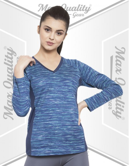 MAX V NECK LADIES FULL SLEEVE T-SHIRT
