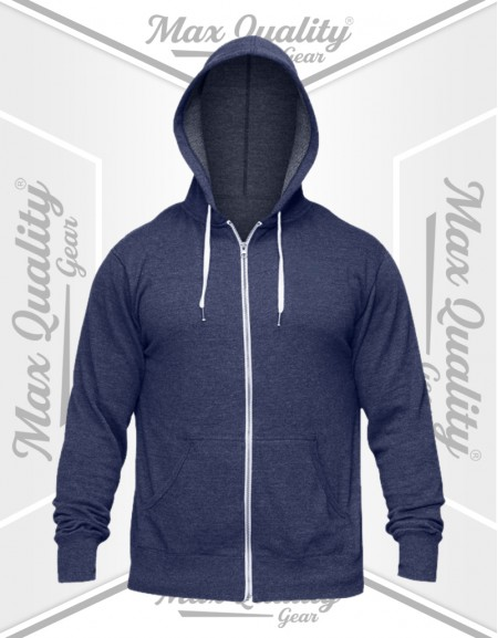 MEN'S ZIPPER BLUE HOODIE JACKET