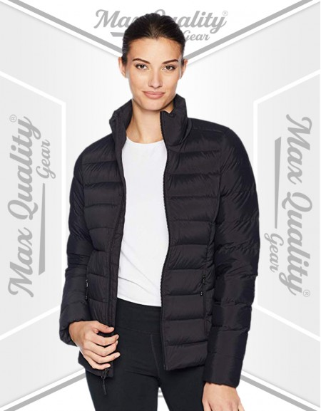 LADIES BLACK WINTER PUFFER JACKET