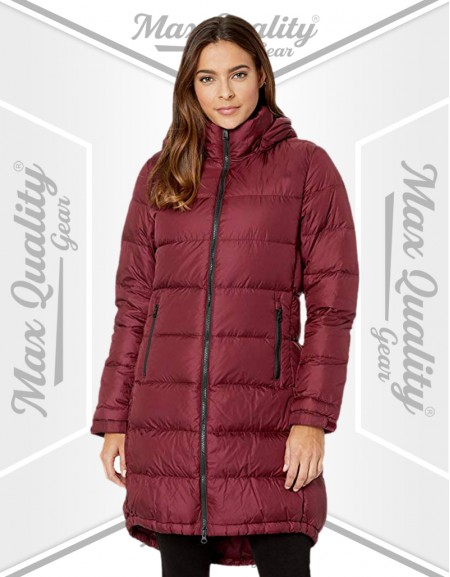 LADIES LONG LENGTH PUFFER JACKET