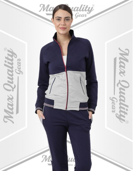LADIES ZIP UP JACKET CASUAL TRACKSUIT