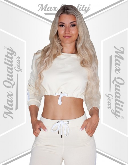 LADIES SLIM WEAR CROP HOODIE TRACKSUIT