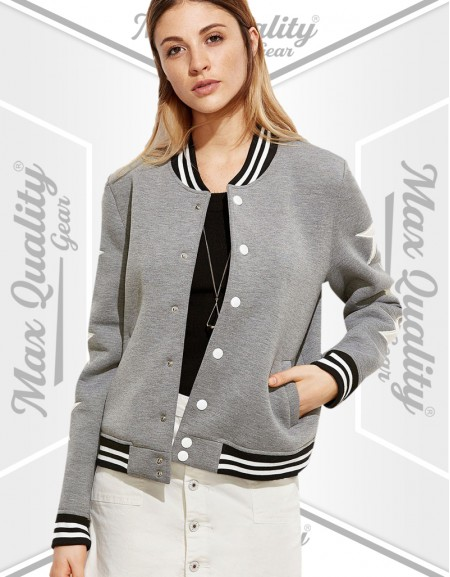SUPER FINE WOOL LADIES VARSITY JACKET