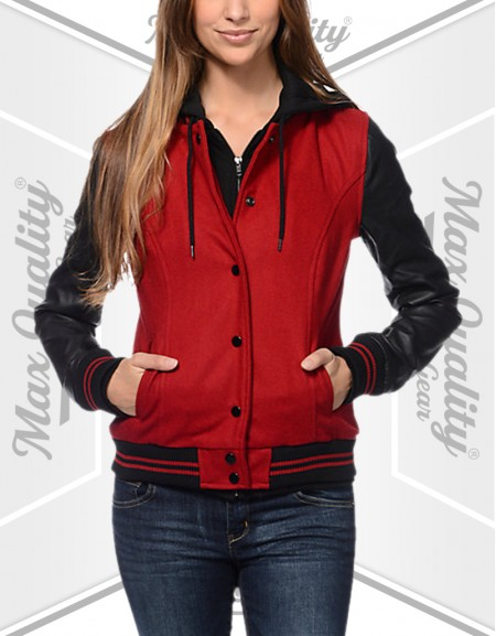 WOMEN COLLAGE LETTERMAN VARSITY JACKET